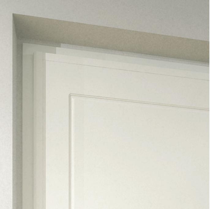Telaio bianco 9010 con rivestimento Slim