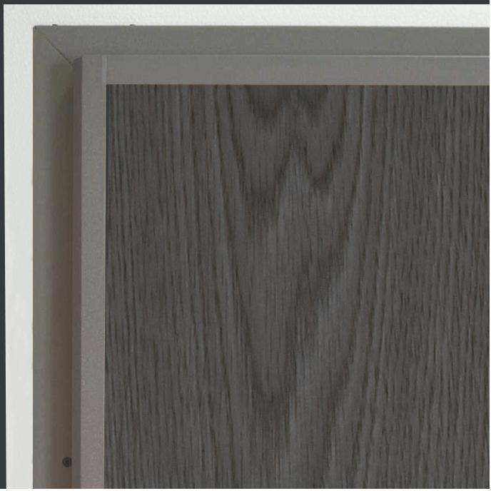 Telaio grigio marmo antico con rivestimento Rovere tinto grigio