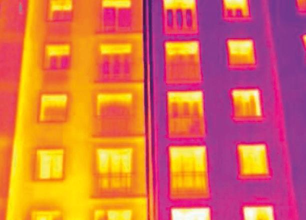 termografia di facciata